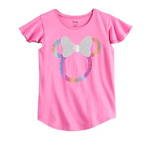 Disney's Minnie Mouse Girls 4-12 Ruffle Sleeve Tee by Jumping Beans®