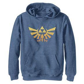 Boys 8-20 Nintendo Legend Of Zelda Royal Crest Orange Hue Badge Hoodie