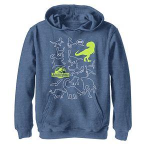 Boys 8-20 Jurassic World Two Dino Doodle Neon Pop Hoodie