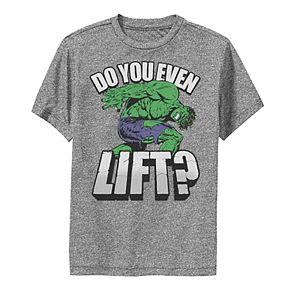Boys 8-20 Marvel Hulk Do You Even Lift Workout Performance Tee