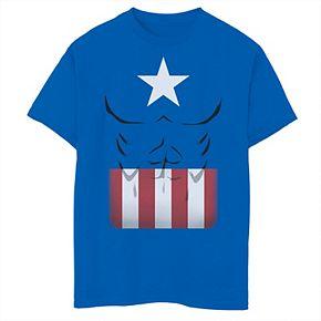 Boys 8-20 Marvel Captain America Simple Suit Tee