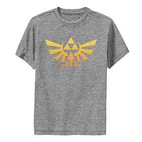 Boys 8-20 Nintendo Legend Of Zelda Royal Crest Orange Hue Badge Performance Tee