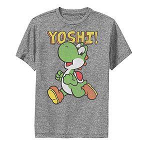 Boys 8-20 Nintendo Super Mario Yoshi Intro Jump Performance Tee