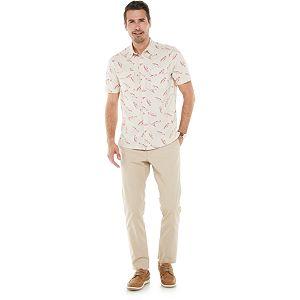 Men's Croft & Barrow® Quick-Dry Heather Mesh Button-Down Shirt