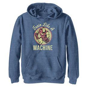Boys 8-20 Marvel Iron Man Train Like a Machine Hoodie