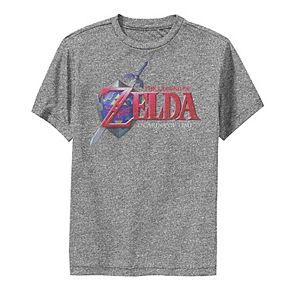 Boys 8-20 Nintendo Zelda Ocarina of Time Classic Logo Performance Tee