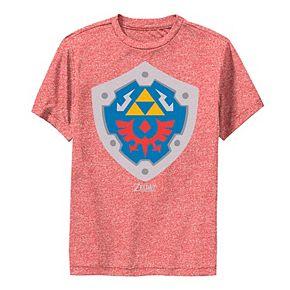 Boys 8-20 Nintendo Legend Of Zelda Links Awakening Hylian Shield Logo Performance Tee