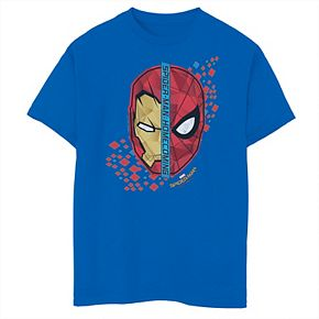 Boys 8-20 Marvel Spider-Man Homecoming Iron Man Face To Face Tee