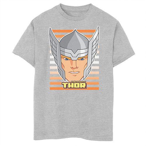 Boys 8-20 Marvel Avengers Assemble Thor Big Face Tee