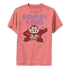 Boys 8-20 Nintendo Donkey Kong 8-Bit Pose Retro Performance Tee
