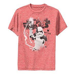 Boys 8-20 Star Wars Last Jedi Stormtrooper Electrical Logo Performance Tee