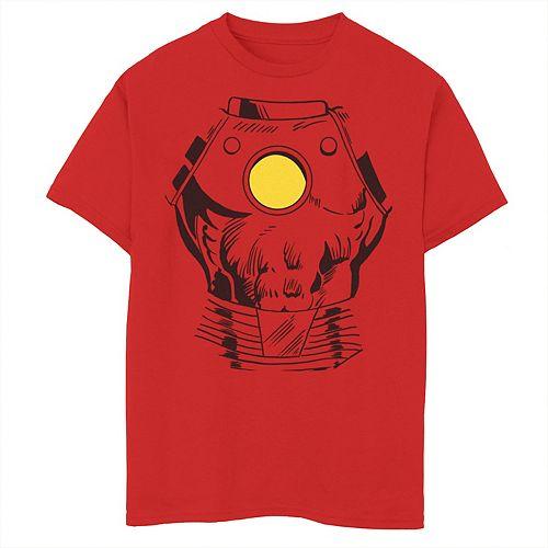 Boys 8-20 Marvel Iron Man Suit Super Retro Halloween Cosplay Tee
