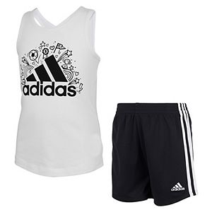 Girls 4-6x adidas ADI Cotton Tank and Shorts Set