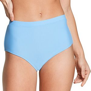 Women's Speedo Solid High-Waist Bikini Bottoms