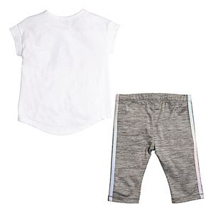 Girls 4-6x adidas Iridescence Capri Tights and Tee Set