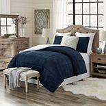 Trendy Reversible Ultra Plush Faux Fur & Sherpa Comforter Set