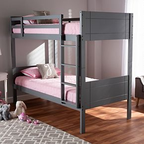 Baxton Studio Elsie Twin Bunk Bed