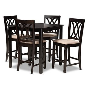 Baxton Studio Reneau 5-Piece Pub Set