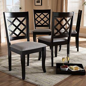 Baxton Studio Verner Dining Chair 4-Piece Set