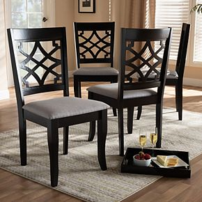 Baxton Studio Mael Dining Chair 4-Piece Set