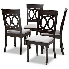 Baxton Studio Lucie Dining Chair 4-Piece Set