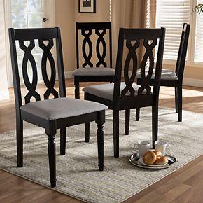 Baxton Studio Cherese Dining Chair 4-Piece Set