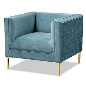 Baxton Studio Seraphin Blue Chair