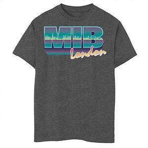 Boys 8-20 Men in Black M.I.B. London Retro Style Logo Tee