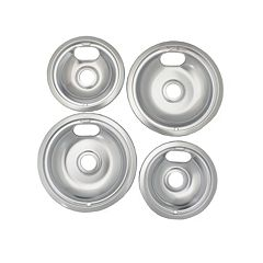 Range Kleen Style A Stovetop Drip Pan Set (2 Large / 2 Small)