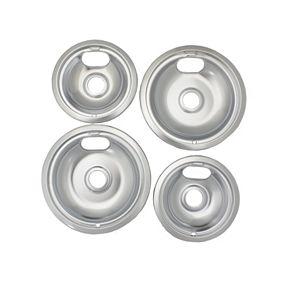 Range Kleen Style A Stovetop Drip Pan Set (2 Large / 2 Small)