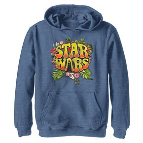Boys 8-20 Star Wars Darth Vader Floral Hippy Logo Graphic Hoodie