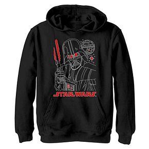 Boys 8-20 Star Wars Darth Vader Dark Outline Graphic Hoodie