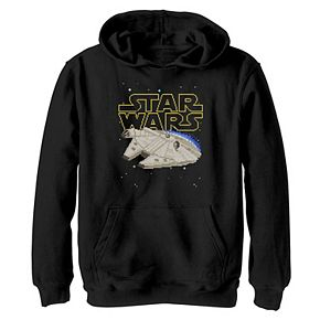 Boys 8-20 Star Wars Millennium Falcon 8-Bit Graphic Hoodie