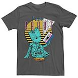 Men's Marvel 90'S Groot Tape Retro Portrait Graphic Tee