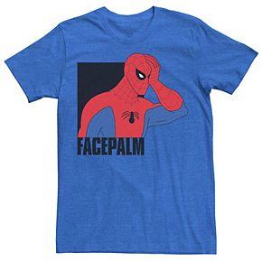 Men's Marvel Spider-Man Facepalm Vintage Portrait Graphic Tee