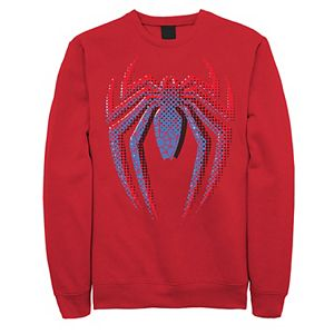 Men's Marvel Spider-Man Gradient Logo Fleece Graphic Top