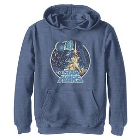 Boys 8-20 Star Wars Vintage Circle Movie Poster Graphic Hoodie