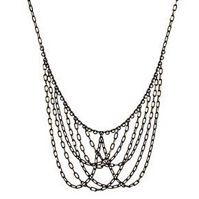 1928 Two Tone Chain Bib Necklace