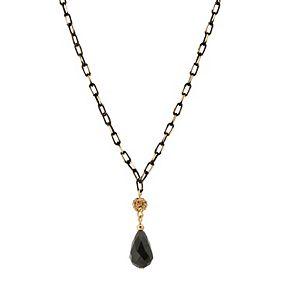 1928 Two Tone Teardrop Y Necklace