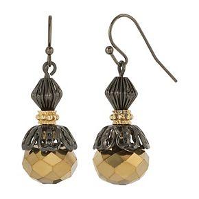 1928 Two Tone Beaded Drop Earrings