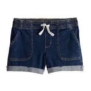 Girls 4-12 Jumping Beans® Roll-Cuff Woven Shorts