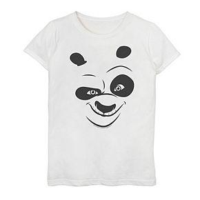 Girls 7-16 Kung Fu Panda Po Face Graphic Tee