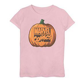 Girls 7-16 Marvel Comics Pumpkin Logo Graphic Tee