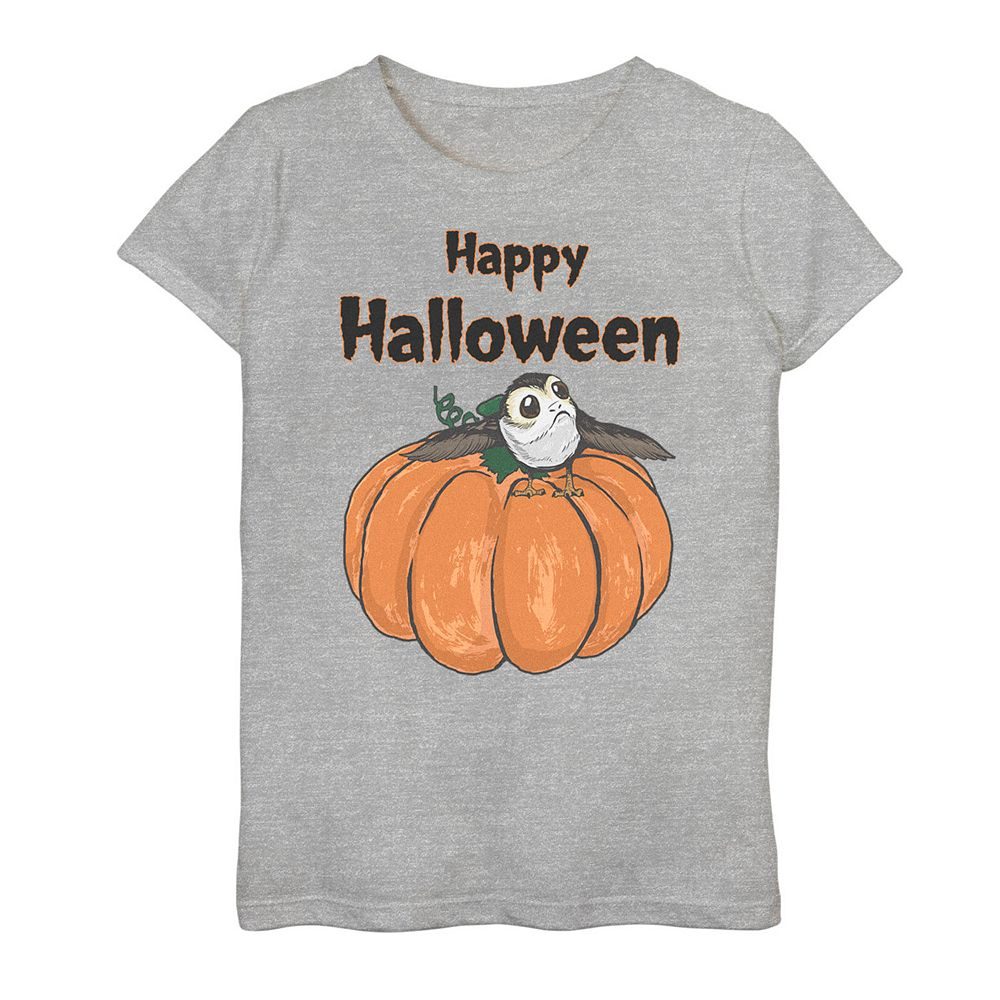 "Girls 7-16 Star Wars Porg ""Happy Halloween"" Graphic Tee"
