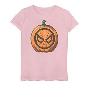 Girls 7-16 Marvel Spider-Man Pumpkin Logo Graphic Tee