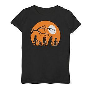 Girls 7-16 Star Wars Trick or Treat Silhouette Graphic Tee
