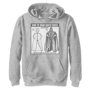 Boys 8-20 Star Wars How To Draw Darth Vader Graphic Hoodie