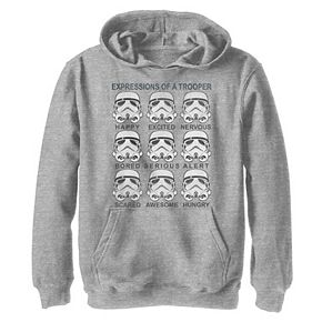 Boys 8-20 Star Wars Stormtrooper Facial Expressions Graphic Hoodie