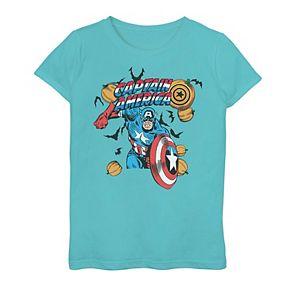 Girls 7-16 Marvel Captain America Halloween Graphic Tee