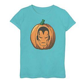 Girls 7-16 Marvel Iron Man Pumpkin Logo Graphic Tee